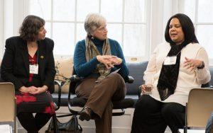 Gabriella Boros, Barb Kreski and Stephanie Rose Bird at the Brushwood Center at Ryerson Woods
